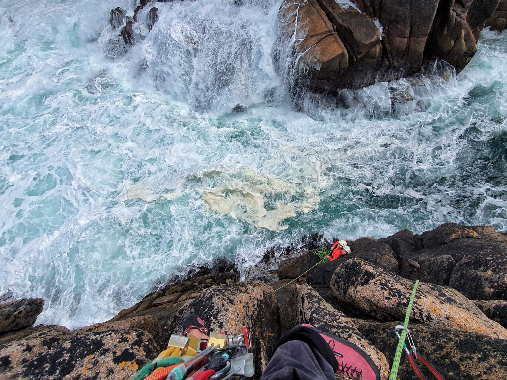 Climbing new routes in Ireland